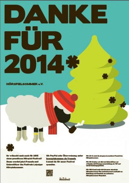 Plakat Danke 2014