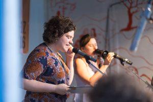 Bachmann-Preisträgerin Nora Gomringer auf dem Hörspielsommer